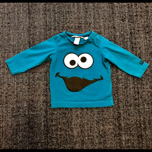 H&M Cookie Monster long sleeved T-shirt size 6-9.